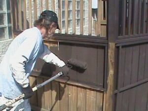 Fence staining Chicago rooftop                              Aardvark Painting Inc.