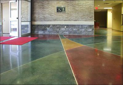 Stained Concrete Floors In Park Ridge Decorative Aardvark Painting Inc