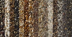 Sample Colors of Pebble Stone Flooring     Aardvark Painting Inc.